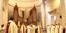 Mons. René Rebolledo junto a Mons. Manuel Donoso y Mons. Luis Gleisner.