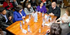 Autoridades UCN con ministra