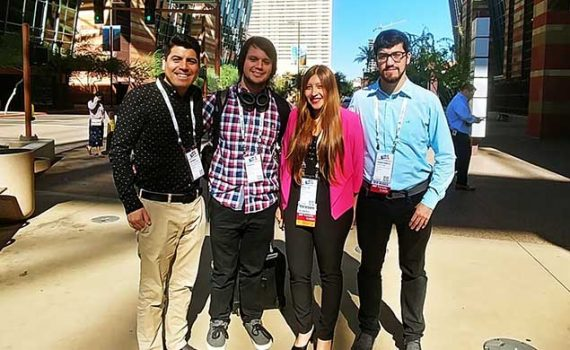 Estudiantes de la UCN expusieron trabajos de investigación en Estados Unidos