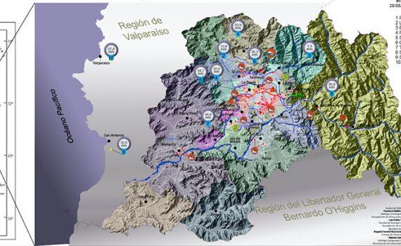 Equipo científico del CIGIDEN crea mapa que reúne el impacto de las últimas lluvias en la región Metropolitana