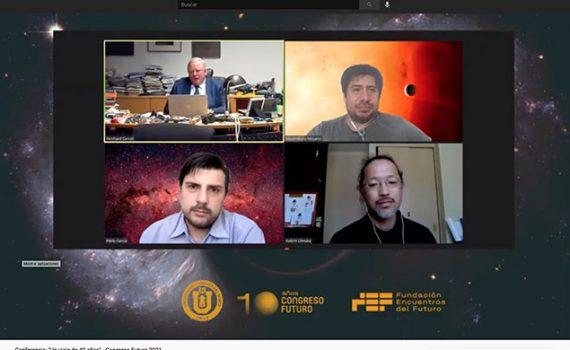 Congreso Futuro: Descubridor de agujeros negros dialogó con astrónomos UCN